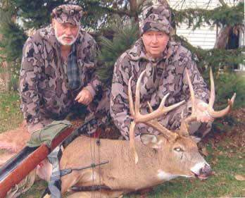 Len Angelwitz from Winona Mn hunting with Bob Fratzke on Nov 4th 20ll