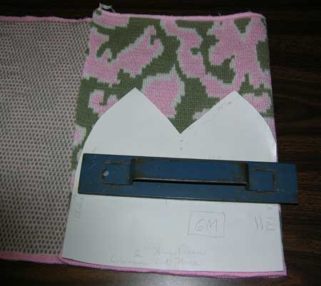 Paper pattern on camouflage fabric