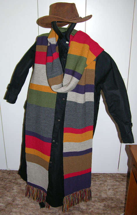 A Replica of the Season 12 Dr Who Style Scarf ~ Select Length ~ Wool ~ Garter Stitch