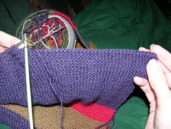 See the Bind Off Stitches are elastic and look like a horizontal row of knit stitches or 'Chain Stitches