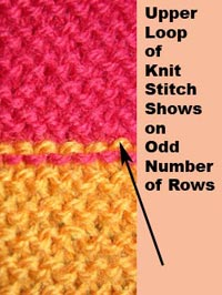 colors should also change at the very FIRST stitch of the row when you are knitting GARTER STITCH STRIPES.