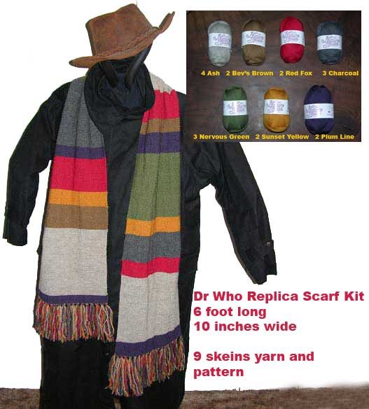 7eb7c13f49d1 Yarn Kits and Knitting Patterns Featuring Knit Dr Who Scarf Knits