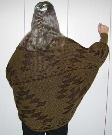 "Acrylic ""Friendship"" Shrug in Mocha/Brown - Great Gift"