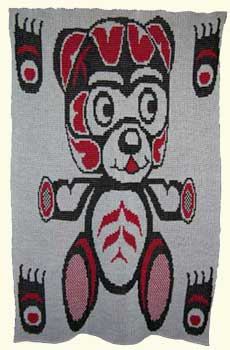Teddy Bear Blanket in Pacific Northwest Art Style