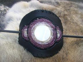 Native American Art Style of a Custom Beaded Hair Piece in the likeness of Brother Moon