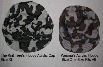 compare winona Ridge Runner hat with The Knit Tree's Ridge Runner camo cap