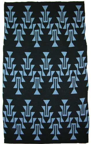 Frog Foot Design Featured On This Two Color Hupa Karuk