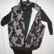 A Knit Winona Camo Elite© Vest ~ Sherpa Lining color S grey black brown