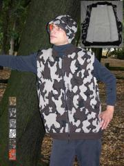 A Knit Winona Camo Elite© Vest ~ Sherpa Lining color E camel black brown